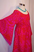 Vintage Ludi Hot Pink Maxi Dress