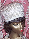 White Raffia Netted Hat