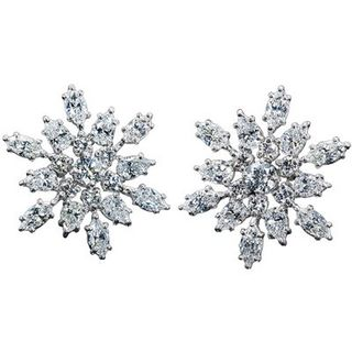 Harry-Winston Snowflake Diamond earrings
