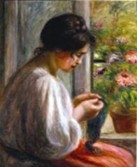 Seamstress by Renoir