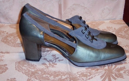 Sh 115 Johansen grey patent leather & suede shoe (2)