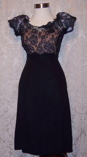 Peggy hunt illusion black dress