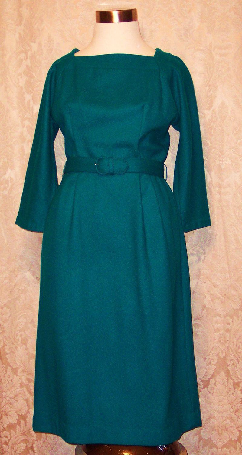 Dr112 sears green wool wiggle