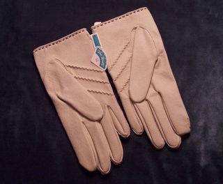 Gl109 Van Raalte white leather driving gl (4)