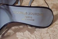 Sh118 Charles Jourdan Paris Silver & Black Strappy Sandals (6)