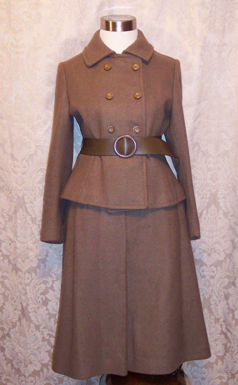 St115 Peck & Peck brown wool suit (4)