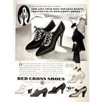 Red cross shoes ad 1936