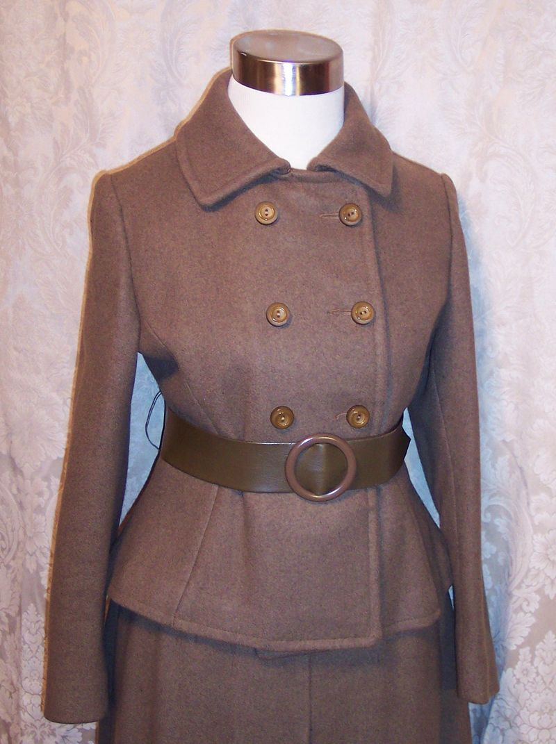 St115 Peck & Peck brown wool suit (10)
