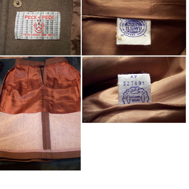St115 Peck & Peck brown wool suit (20)