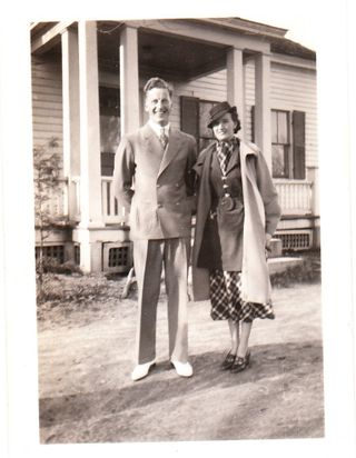 1936 Gram & Gramp year before wedding