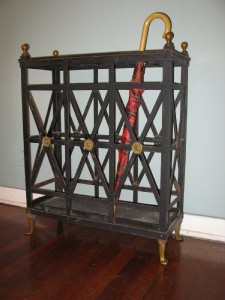 French iron and bronze umb stand $150.00