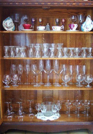 My collection of vintage/antique stemware