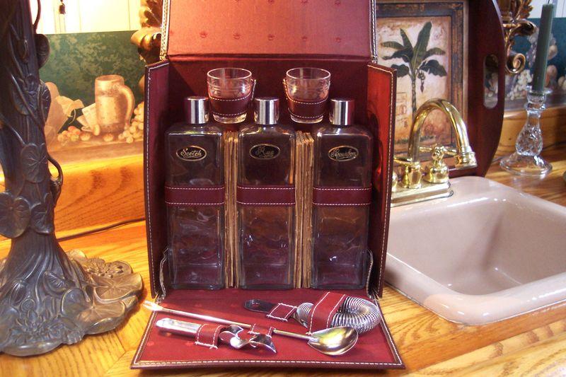 Antique vintage travel bar  (6)