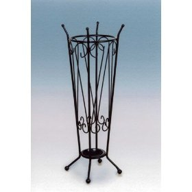 Antique umbr stand black finish