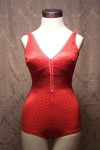 Vintage Cole red & white poka dot swimsuit (2)