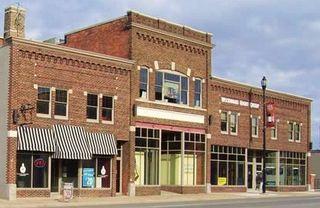 Deserted Main St. shops