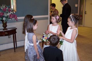 The flower girls....
