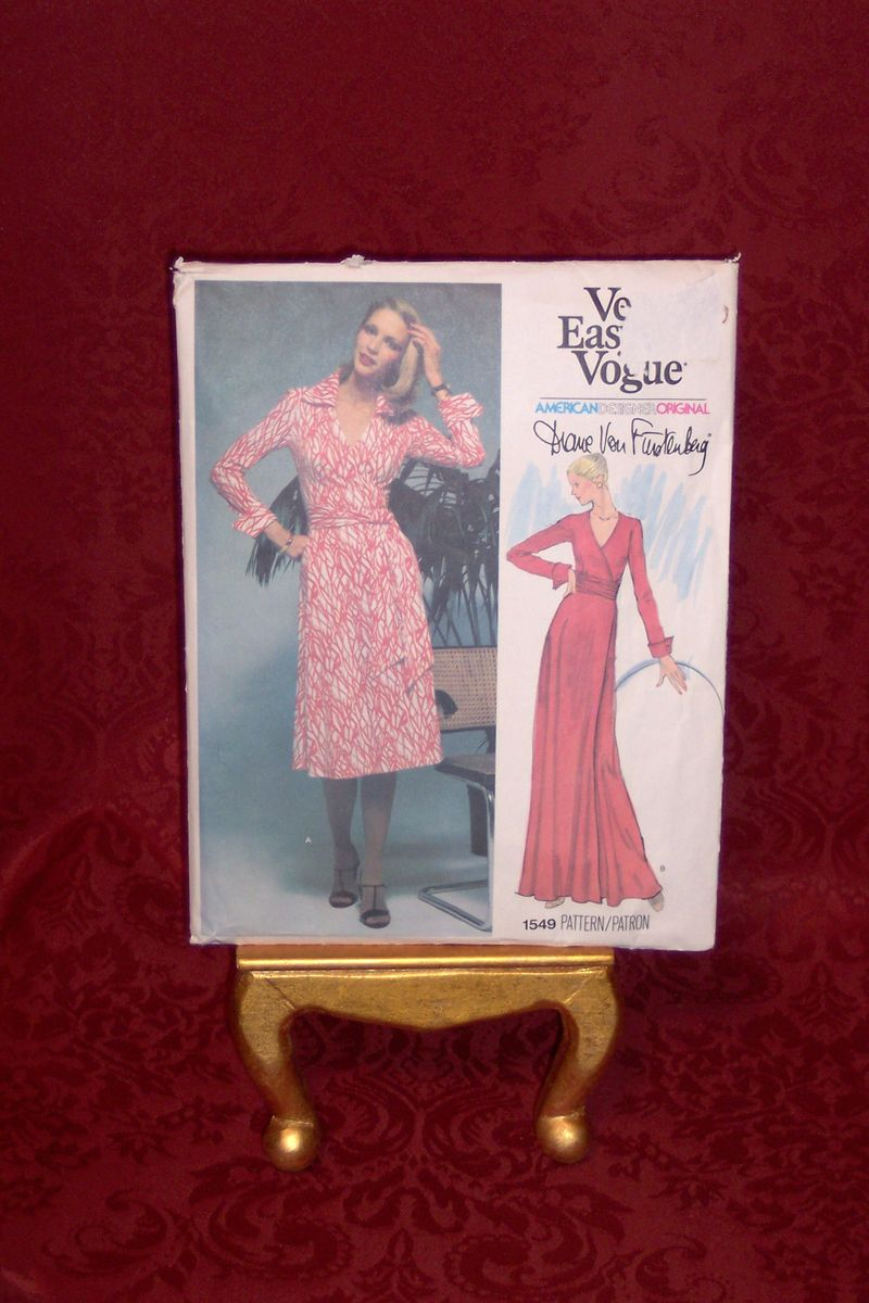 Diane Von Furstenberg vintage Vogue 1549 pattern  (7)