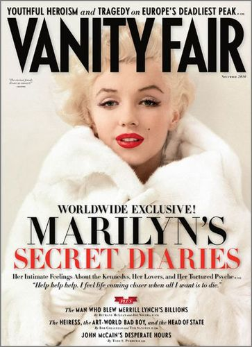 Marilyn Monroe Cover Vanity Fair November 2010