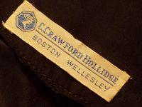 1950s Black Wiggle Dress Silk Satin Bow Detail from C. Crawford Hollidge of Boston _320x240