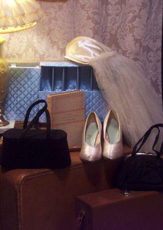 1930s Bridal Veil & Shoes