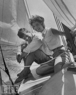 Jackie O sailing
