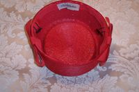Vintage red straw pillbox fez hat