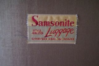 Antique Samsonite Shwayder Bros. Inc. Denver, CO round leather suitcase (2)