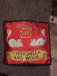 Vintage 1950s Chinchilla Collar Gray coat