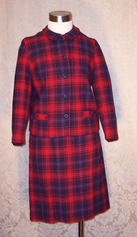 Vintage Prestige red wool plaid suit (2)
