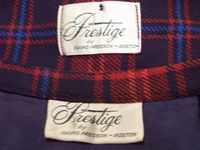 Vintage Prestige red wool plaid suit