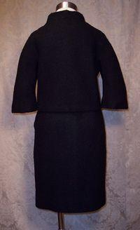 Vintage 1960s Lilli Ann Black Boucle suit (6)