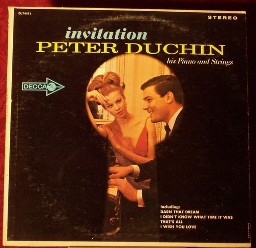 Invitation Peter Duchin his Piano and Strings vintage Album Cover
