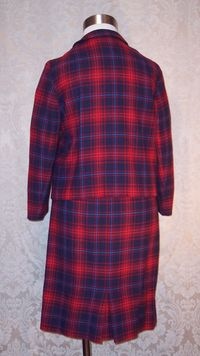 Vintage Prestige red wool plaid suit (6)