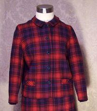 Vintage Prestige red wool plaid suit (3)