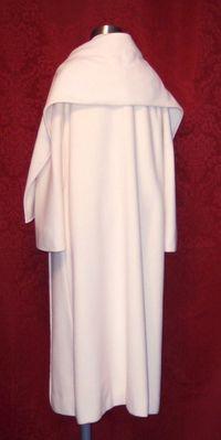 Vintage Pauline Trigere winter white coat & scarf ensemble (8)