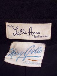 Vintage 1960s Lilli Ann Black Boucle suit