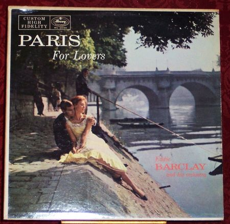 Paris For Lovers Eddie Barclay and his Orchestra vintage Album Cover