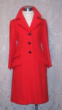 1960s Vintage Studio Six red wool coat_150x200 (9)