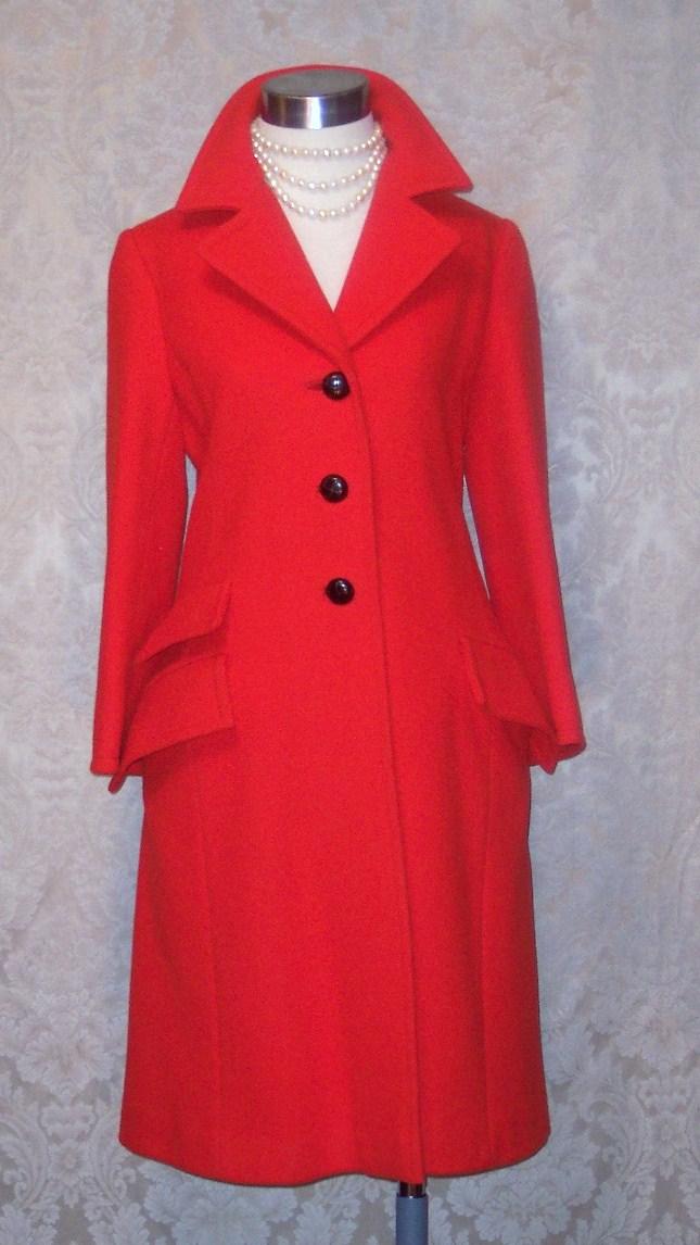 1960s Vintage Studio Six red wool coat_150x200 (9)