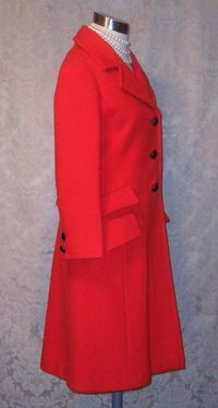 1960s Vintage Studio Six red wool coat_150x200 (7)