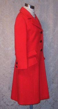 1960s Vintage Studio Six red wool coat_150x200 (7)