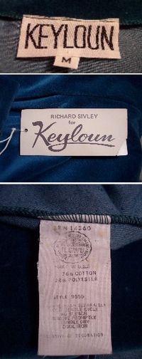 Vintage Richard Sivley for Keyloun velvet hostess dressing gown (14).JPG