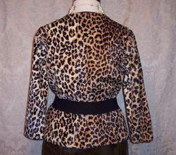 1960s vintage Faux Fur Leopard Print Pullover Top (3)