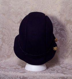 1930s Black Wool Cloche Henry Pollack Glenover vintage (6)