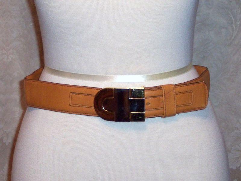 Vintage Christian Dior glove leather belt