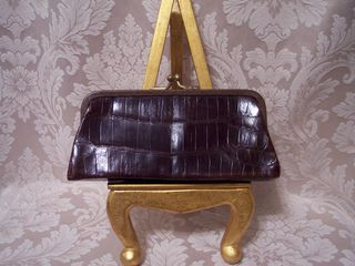 Vintage Alligator leather clutch wallet (2)