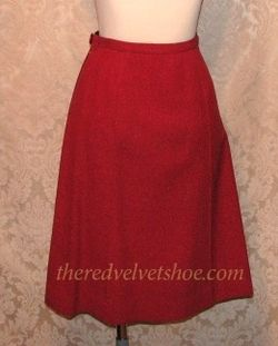 Sybill Connolly 1960s Vintage Couture Red Wool Suit  (2)