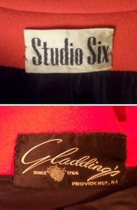 1960s Vintage Studio Six red wool coat_150x200