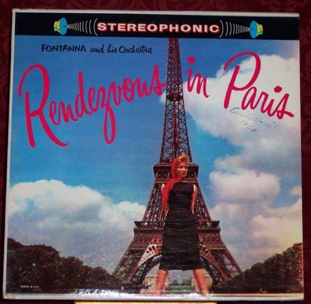 Rendezvous in Paris Fontanna and his Orchestra vintage Album Cover